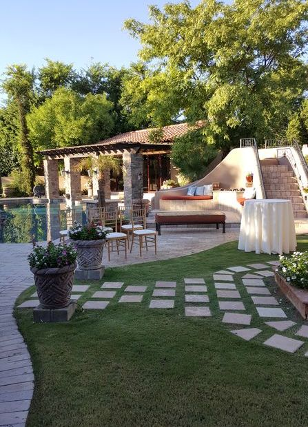 private estate wedding ceremony music outdoors Scottsdale