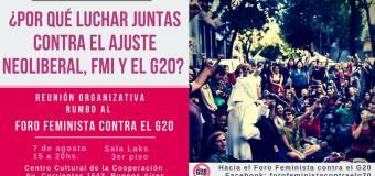Reunião organizativa internacional rumo ao Fórum Feminista contra o G-20