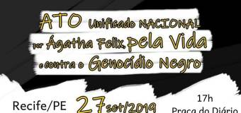 Recife participa do ato unificado nacional pela vida e contra o genocídio do povo negro