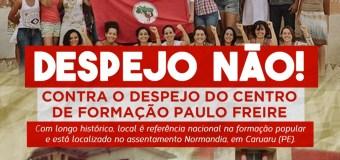 Nota de solidariedade ao MST e contra o despejo do Centro de Formação Paulo Freire