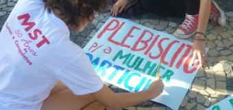 Movimentos se reúnem no centro do Recife para reforçar campanha da constituinte