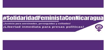 Solidariedade feminista com a luta na Nicarágua