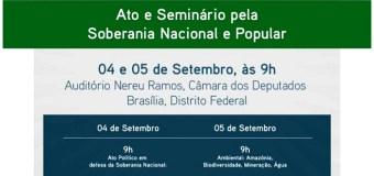 Soberania popular será tema de Plenária nacional na Câmara dos Deputados