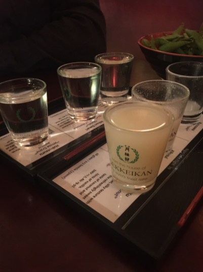 """Gracias al """"sake tasting"""" aprendimos a diferenciar la intensidad de su sabor."""