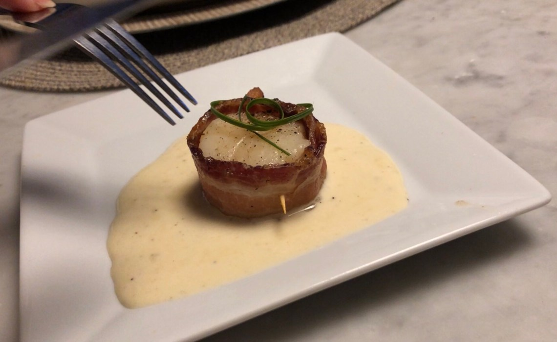 scallops with maple sauce