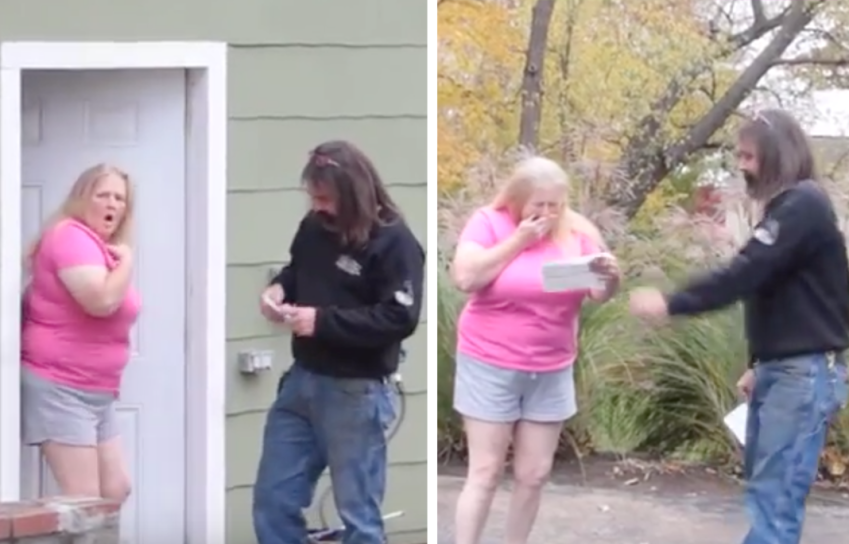 Womans Reaction Is Priceless When Local Repair Man Shows