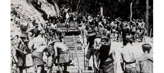 Buruh Paksa Landasan Kereta Api Maut Siam-Burma 1942-1945
