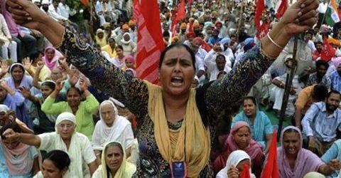 India : Mogok Umum Menuntut Gaji Minimum