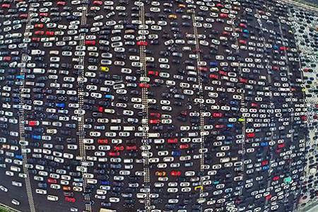 kø i trafikken