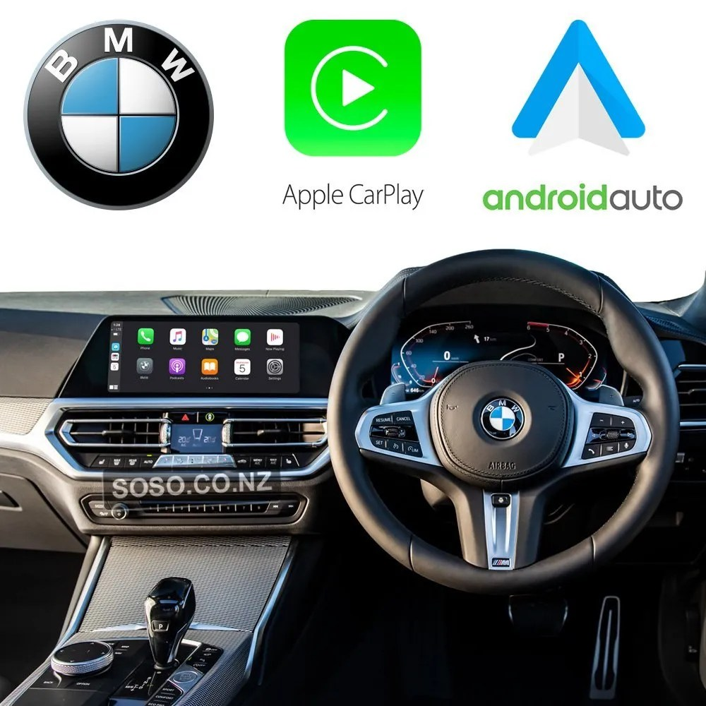 Auto Retrofit - Bmw Evo Idrive Apple Carplay &Amp; Android Auto Retrofit Kit (Wireless)