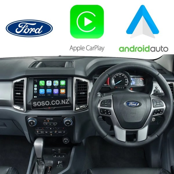 Auto Retrofit - Ford Ranger 2015~2017 Wireless Apple Carplay &Amp;Amp; Android Auto Integration Kit