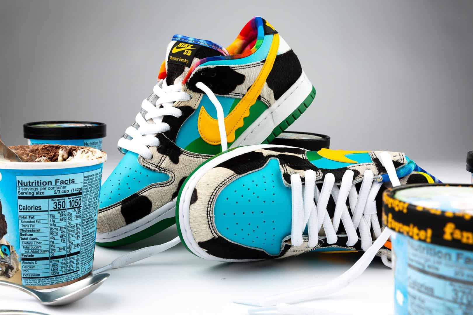 Chunky Dunky shoes with ice cream.