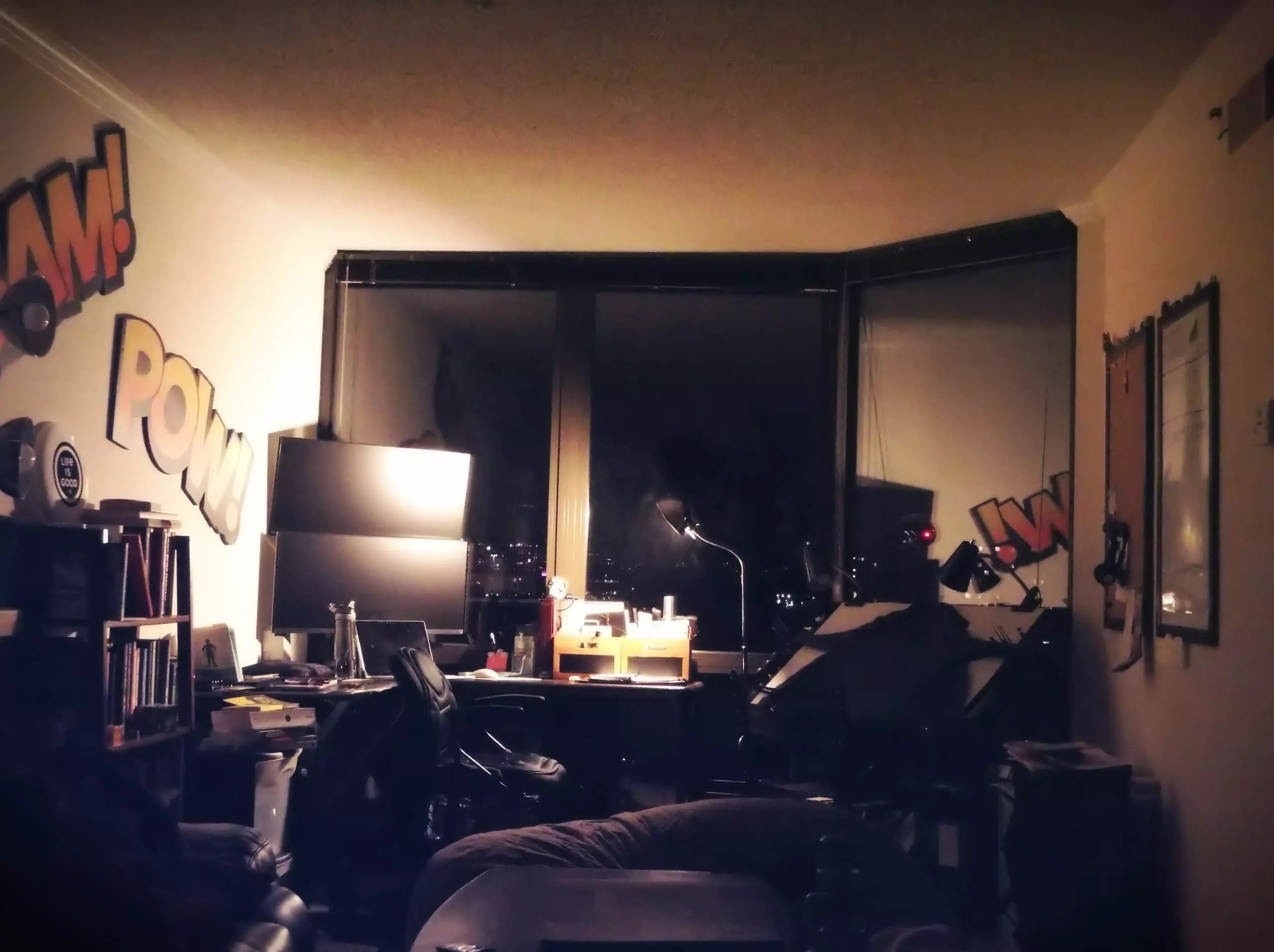 Personal Productivity Hidey Hole - a picture of my creative space at home.