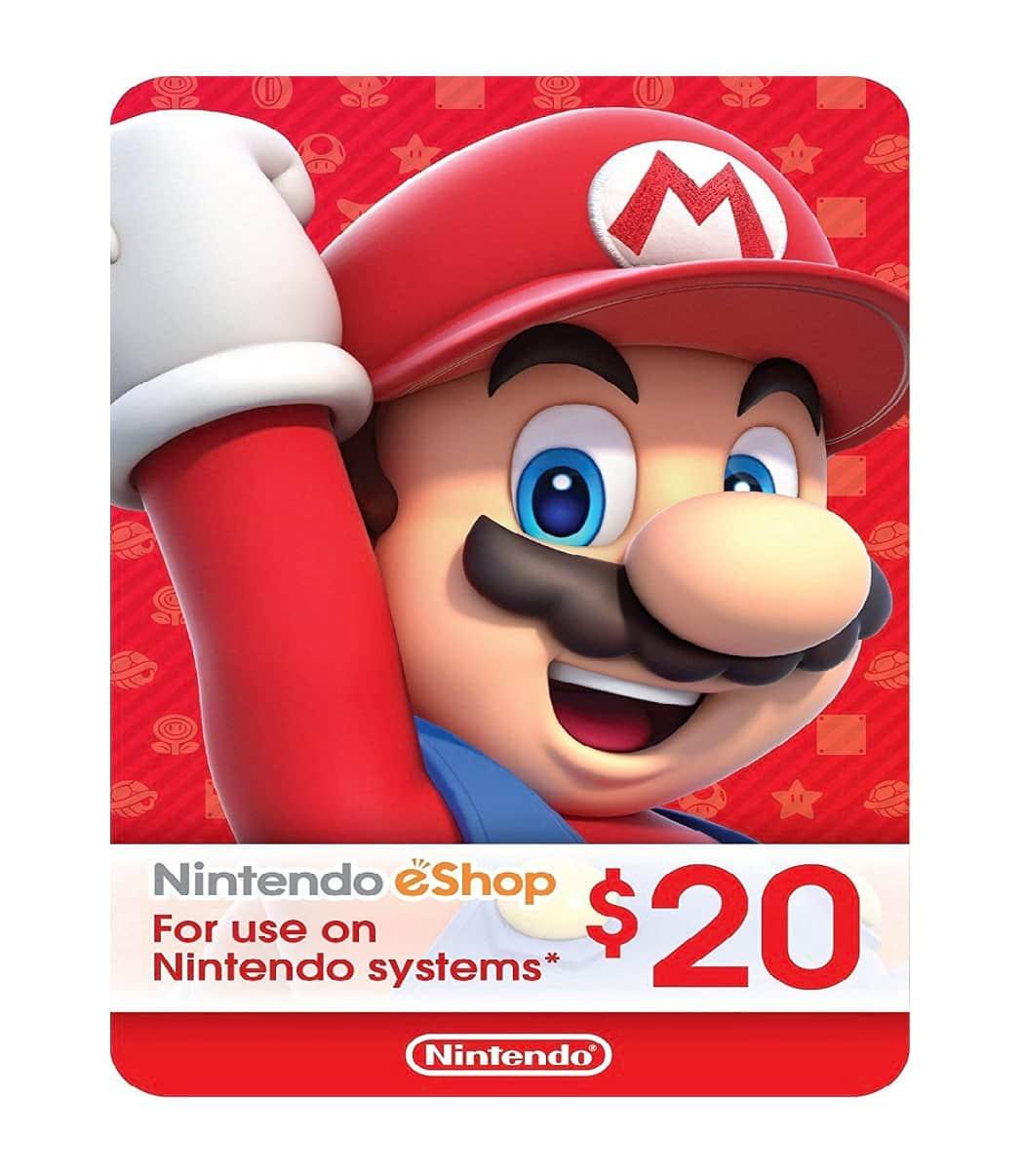 Nintendo $20 Eshop Card Sosogames
