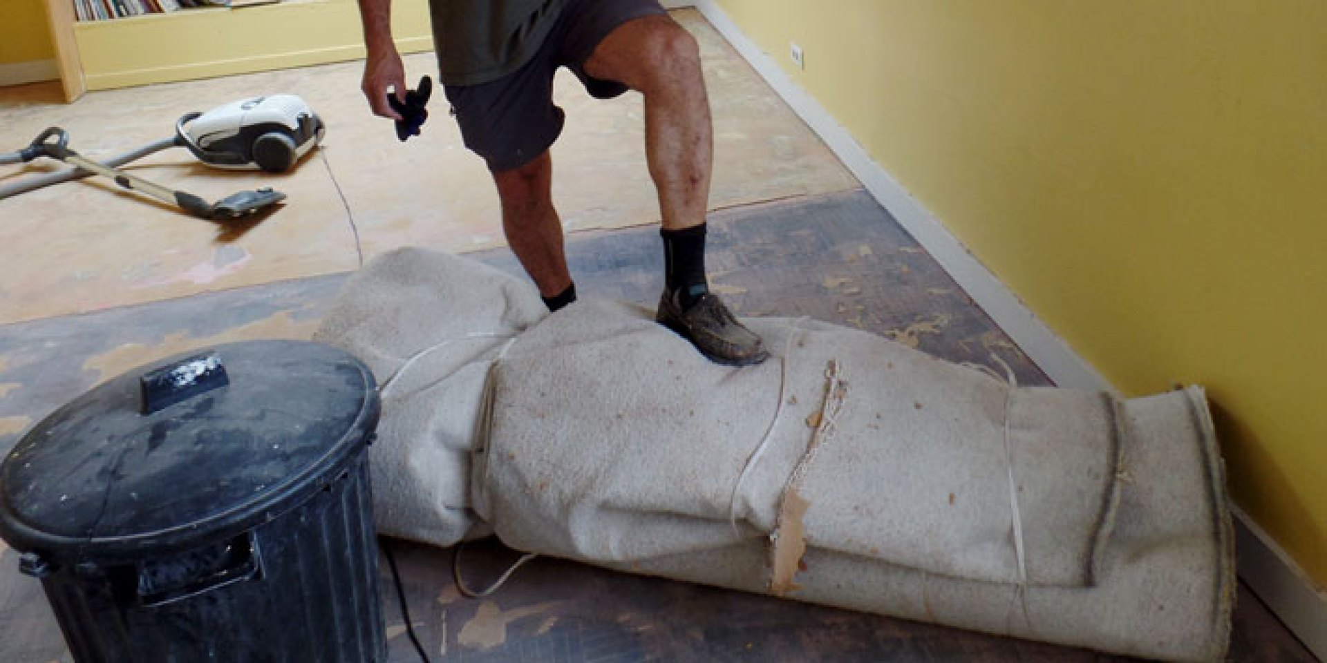 Removing old carpet