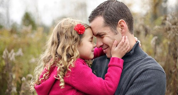 Special father and daughter shared moment