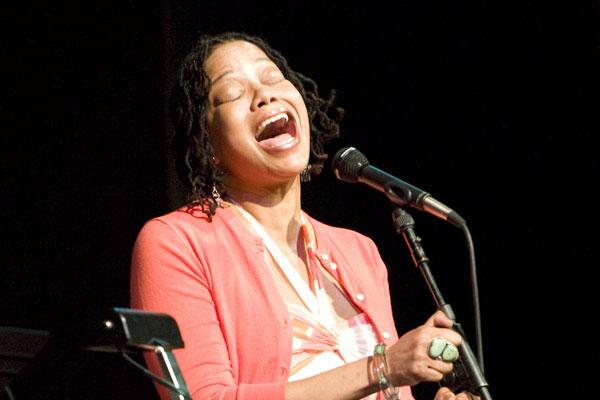 Ruth Naomi Floyd singing.