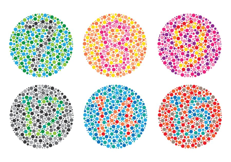 Color blind numbers vector
