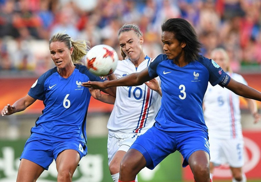 Wendie Renard and Amandine Henry on French female soccer team