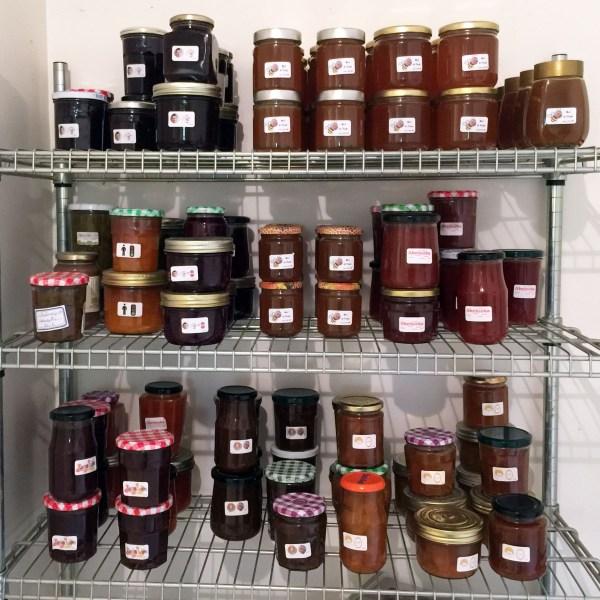 Honey and homemade jams
