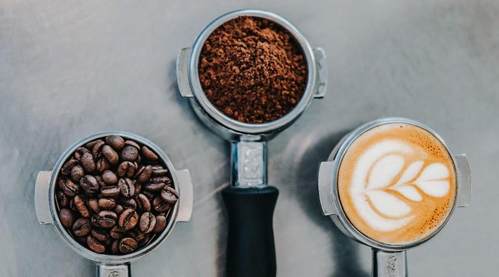 Coffee grains, ground, creme