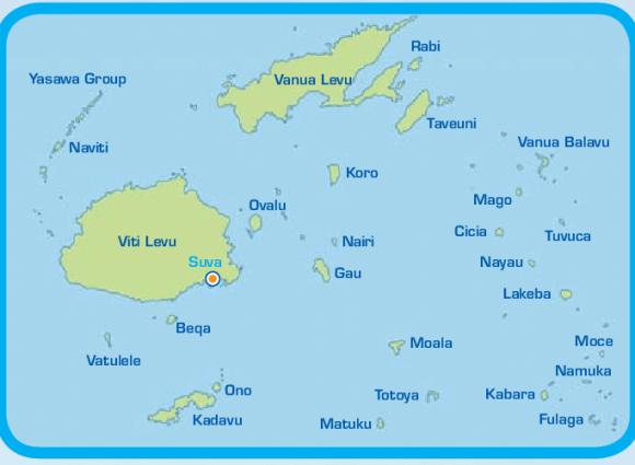 خريطة جزر فيجي