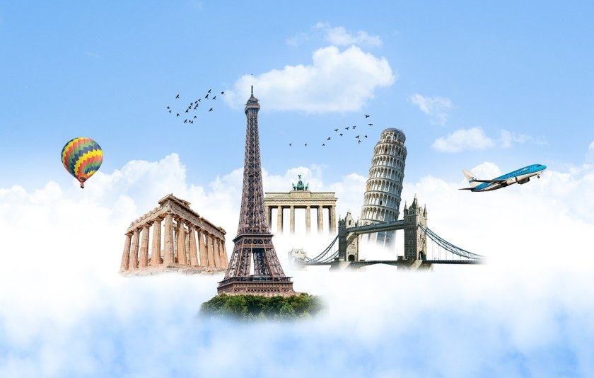eiffel tower, pisa tower, london bridge