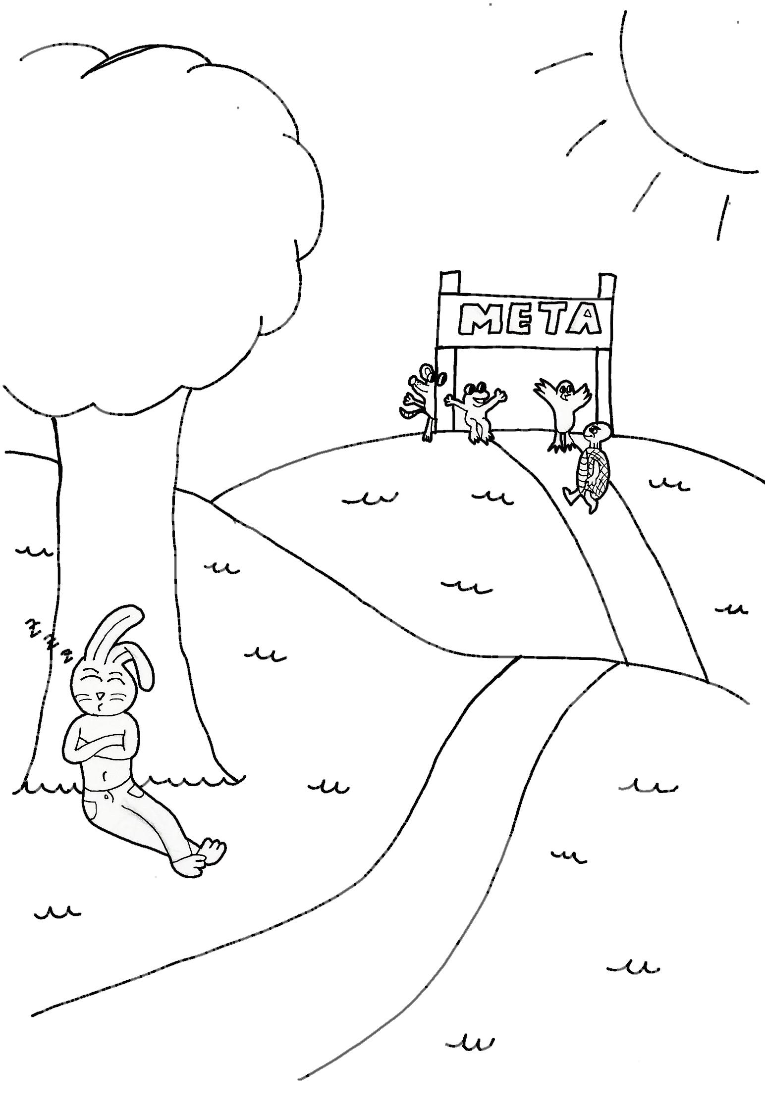 Contemporáneo Tortuga De Dibujos Animados Para Colorear Colección ...