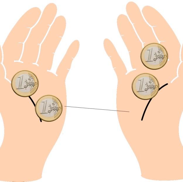 manos-dos-euros-cada-uno-cambiando