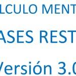 Fases de la RESTA de Cálculo Mental. Versión 3.0