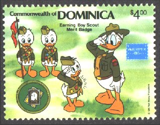 Disney Cartoon Scout Stamps