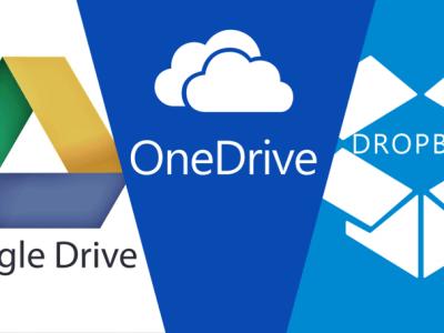 Almacenamiento en la nube: Google Drive vs Dropbox vs Onedrive