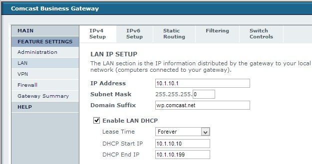 Adventures in ComcastLand – DMZ on a new Comcast modem | SOSTechBlog com