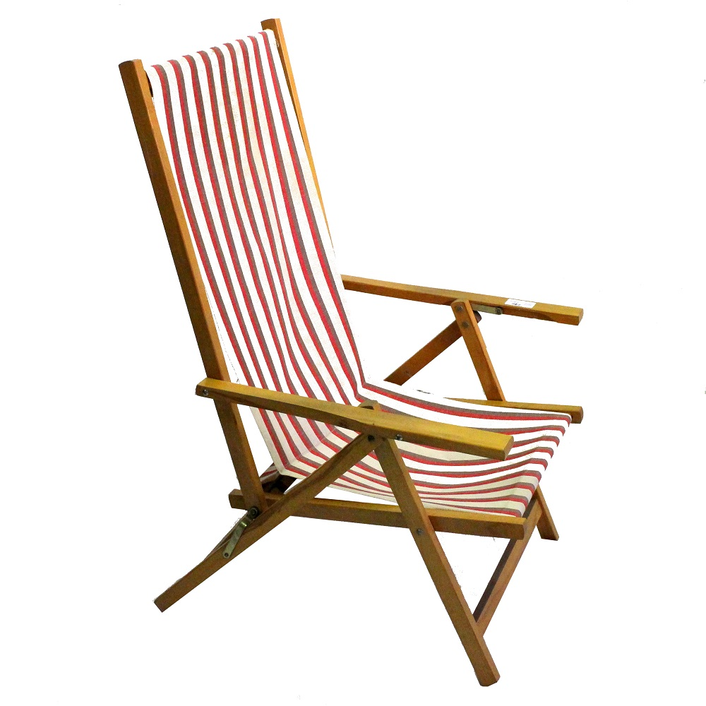 sedie in set di due | in legno di faggio | h. Sedia Sdraio Legno E Tela Bianco E Rosso Anni 60 Sostenibile