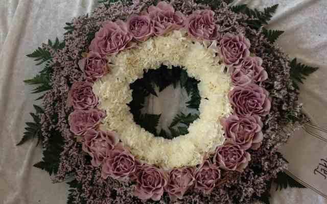 Krans til begravelse - fra Søstra til Morten