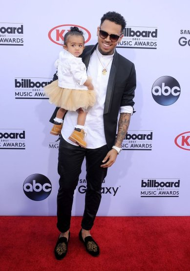 Chris Brown's Daughter Royalty First Red Carpet Appearance Billboard Awards 2015