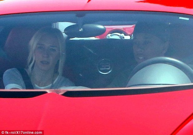 The car is attractive, however what we saw is the charming blonde sitting by him in the photographs.