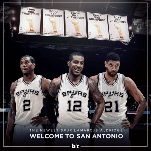 LaMarcus Aldridge says he has decided to go with the Spurs