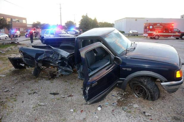 Naked Pickup Driver, High on LSD, Rammed 2 Squad Cars During Wild Chase