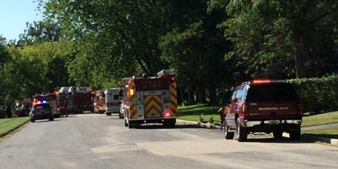 Firefighters Battle Fire on Menomonee River Parkway