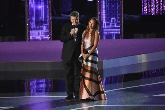 Miss America CEO Sam Haskell III apologized to Vanessa Williams at the 2016 Miss America competition at Boardwalk Hall in Atlantic City, New Jersey, Sept. 13, 2015. Getty