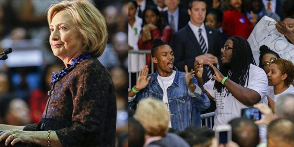 VIDEO Black Lives Matter Activists Disrupt Hillary Clinton's Campaign Rally