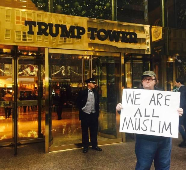 Filmmaker Michael Moore to Donald Trump: #WeAreAllMuslim