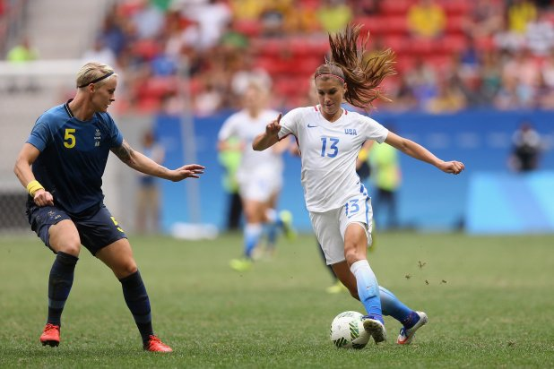Alex Morgan of United States. (Photo by Celso Junior/Getty Images)