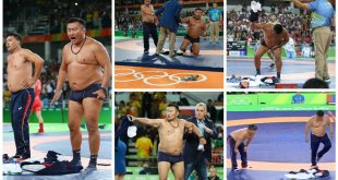 Mongolia Wrestling Coaches Strip Off Clothes in Protest of Official's Decision at Rio Games