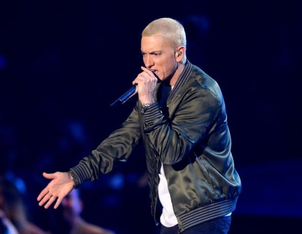 A beef between Eminem and Drake is not happening. Pictured: Eminem at the MTV Movie Awards in Los Angeles, California, on April 13, 2014. PHOTO: GETTY IMAGES/FREDERICK M. BROWN