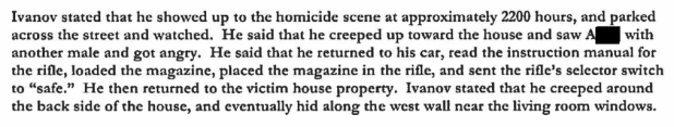 An excerpt from court records