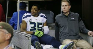 The Latest: Seattle Seahawks Cornerback DeShawn Shead Leaves with Knee Injury