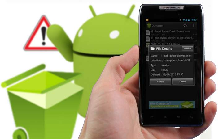 restaurer fichiers dans android