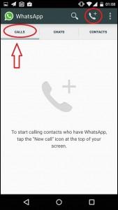 Appels whatsapp 169x300 Comment activer les Appels Whatsapp sur Android, iOS, Blackberry 10